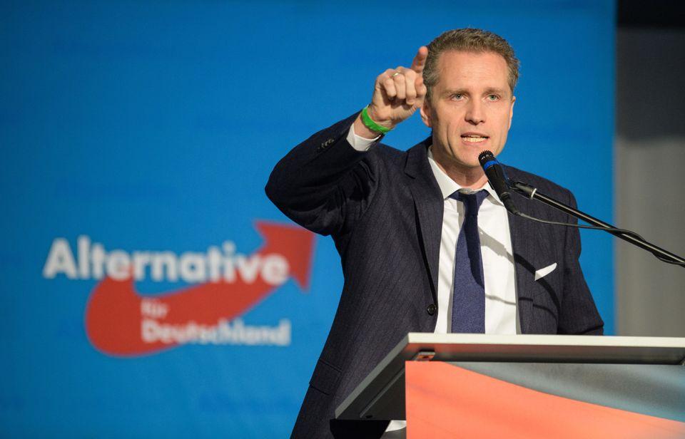 Petr Bystron im November 2017auf dem Parteitag der AfD Bayern in