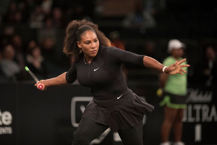 Serena Williams at the Tie Break Tens tennis tournament at Madison Square Garden on March 5.