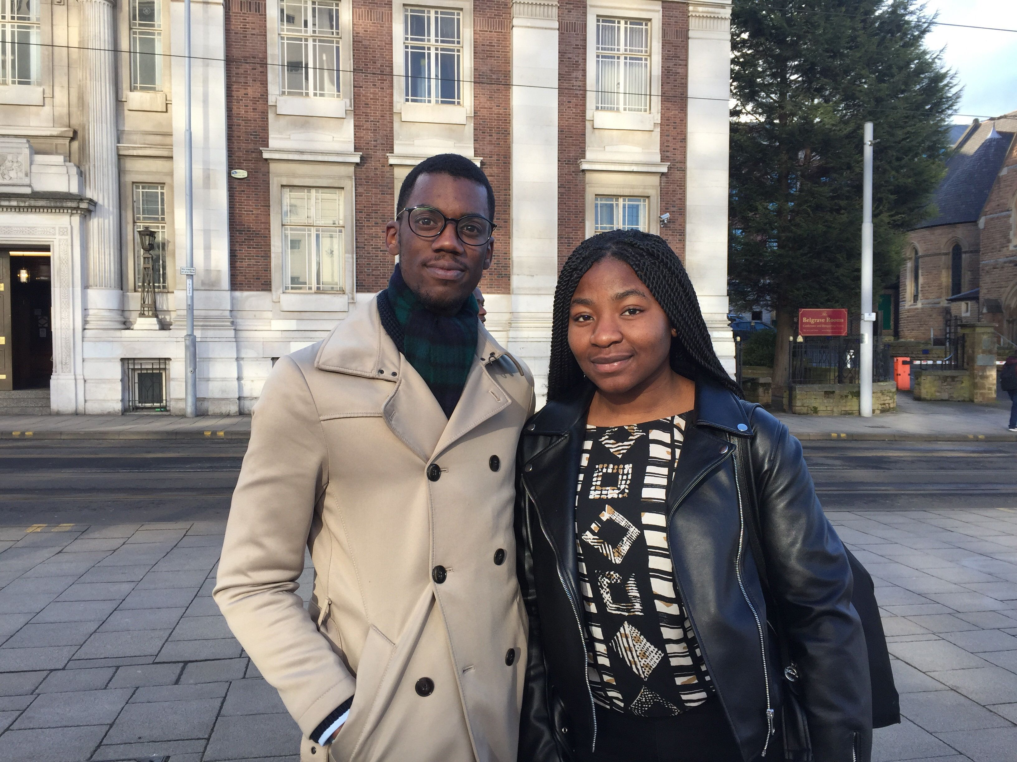 Nottingham Trent University students Michael Parker Langdon and Mary Okpo said they were 'shocked' by the incident
