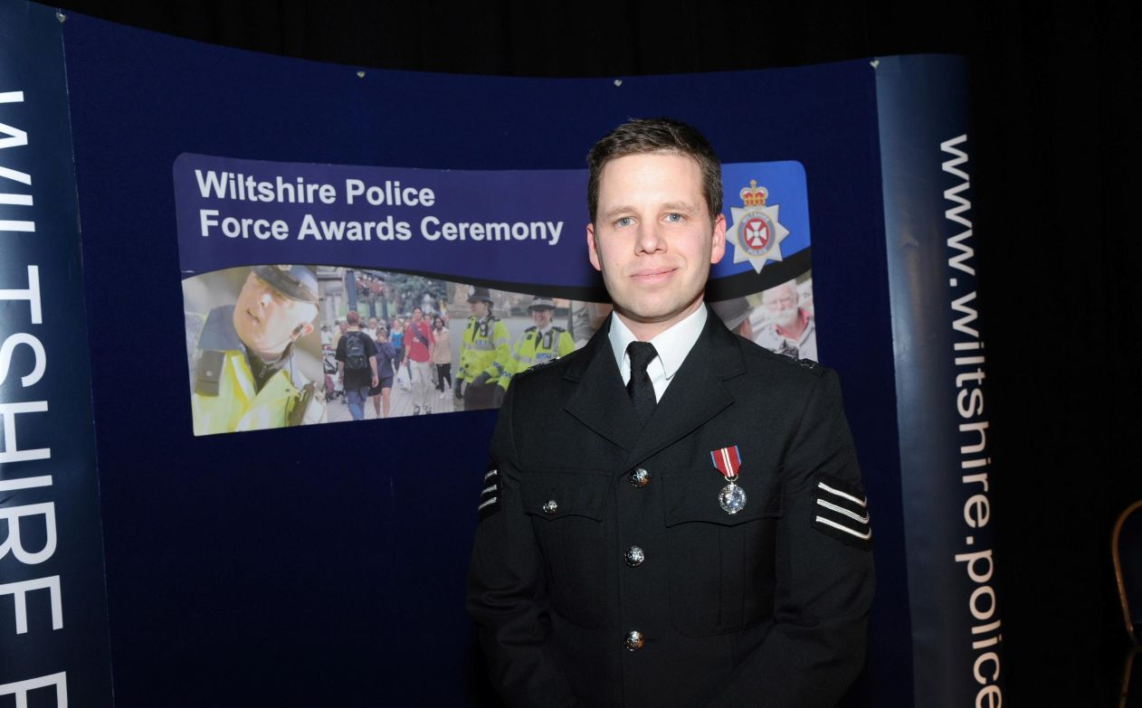 Detective Sergeant Nick Bailey who is sitting up and talking atSalisbury District