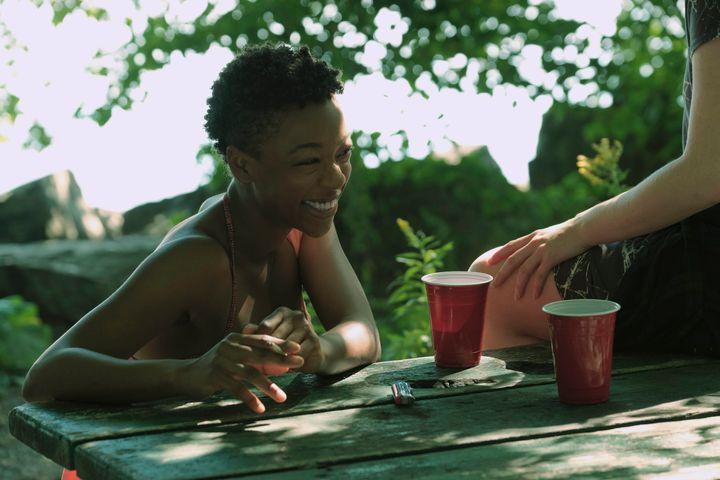 "Samira Wiley in ""The Handmaid's Tale"" Episode 101."