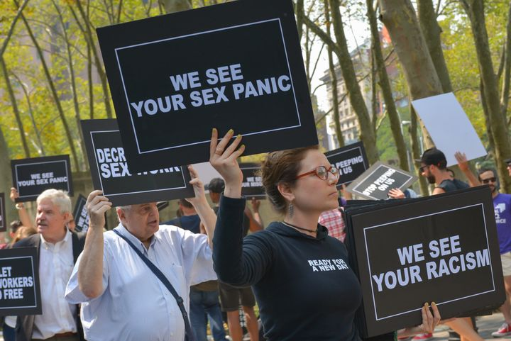 Activists from the LGBTQ community held a rally outside the federal courthouse in Brooklyn on Aug. 25, 2015, to protest&