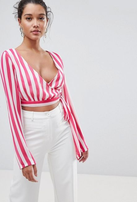 """Get it <a href=""""http://us.asos.com/prettylittlething/prettylittlething-striped-wrap-top/prd/9159388?clr=pink&SearchQuery="""
