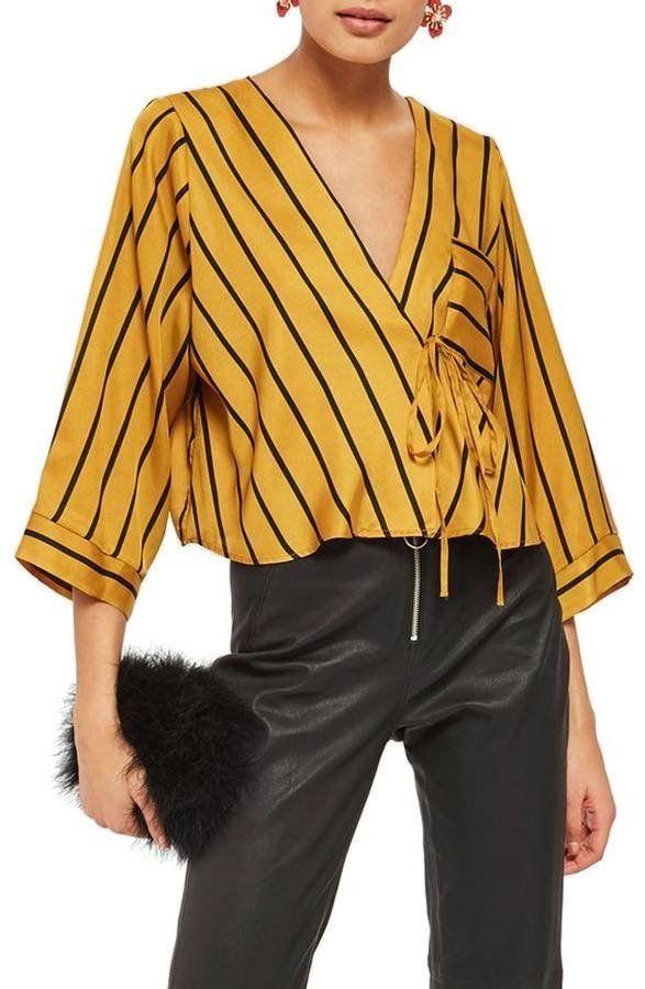 "Get it <a href=""https://shop.nordstrom.com/s/topshop-stripe-tie-wrap-kimono-top/4871581?origin=category-personalizedsort&"