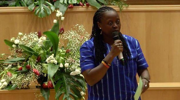 Ssenfuka Joanita Warry is a lesbian Catholic activist from