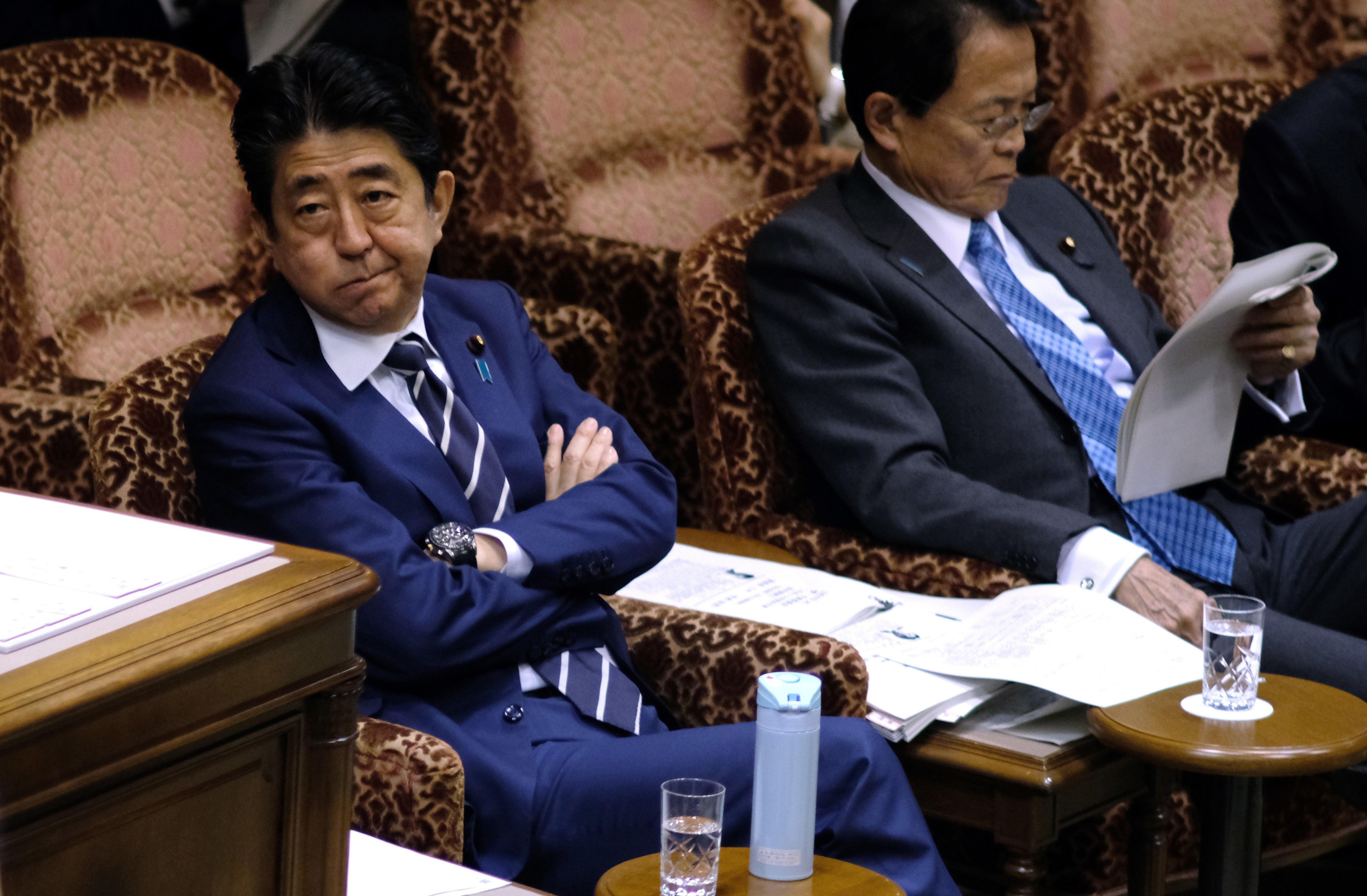 트럼프와 김정은의 만남 가능성에 대한 아베 신조 총리의