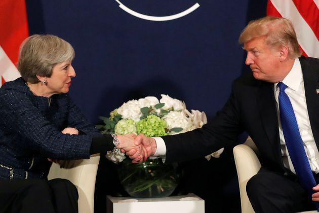 Trump and May at Davos in
