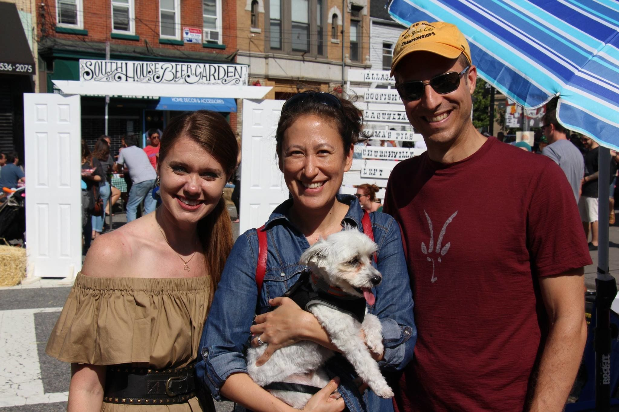 Candice Osborne (left) at the annual All About Downtown Street Fair in Jersey City.