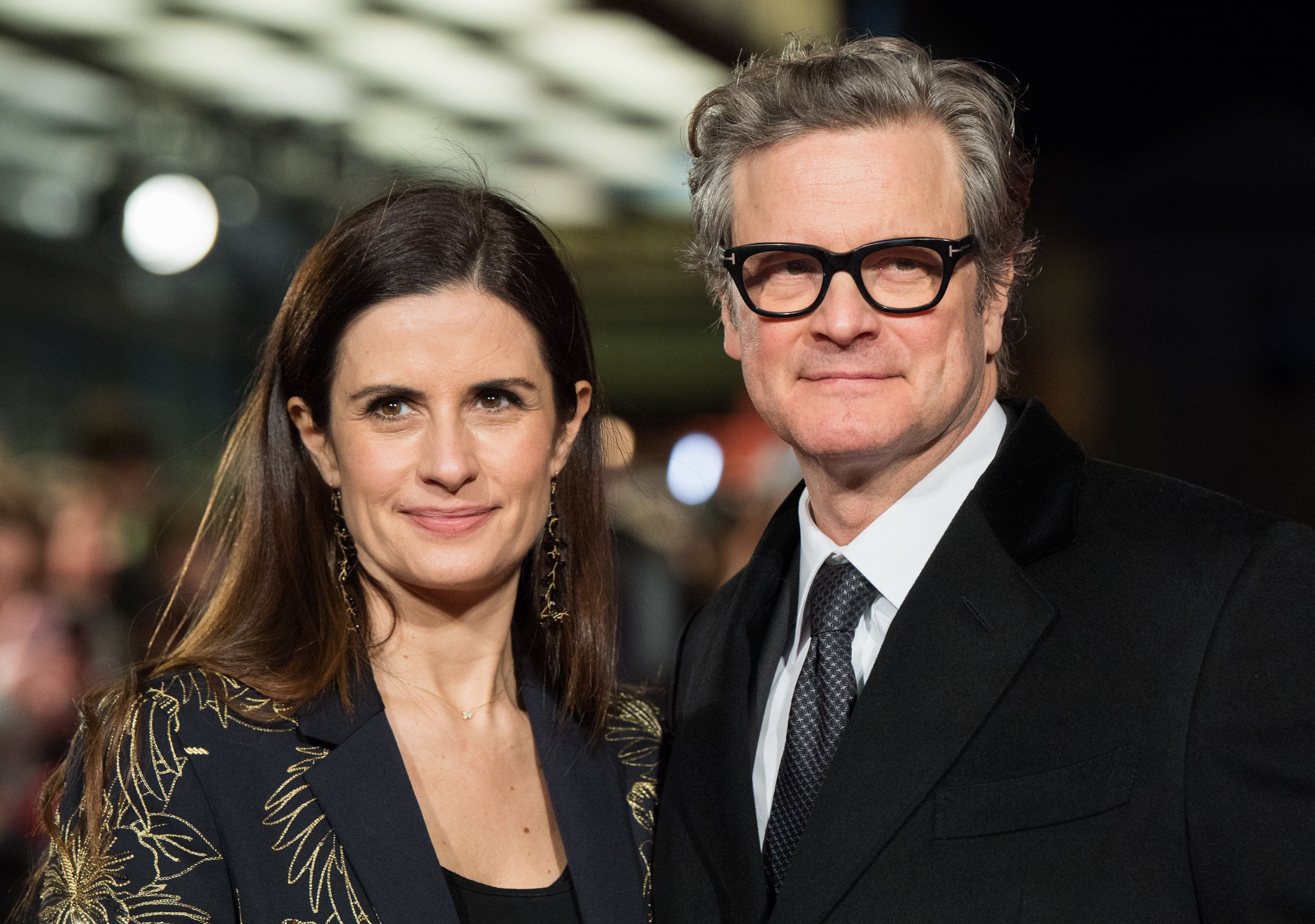 LONDON, ENGLAND - FEBRUARY 06:  Colin Firth and Livia Firth attend 'The Mercy' World Premiere at The Curzon Mayfair on February 6, 2018 in London, England.  (Photo by Samir Hussein/Samir Hussein/WireImage)