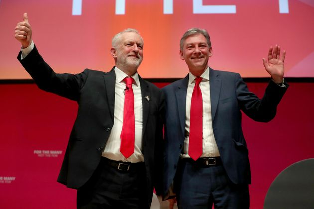 Jeremy Corbyn with Scottish Labour leader Richard