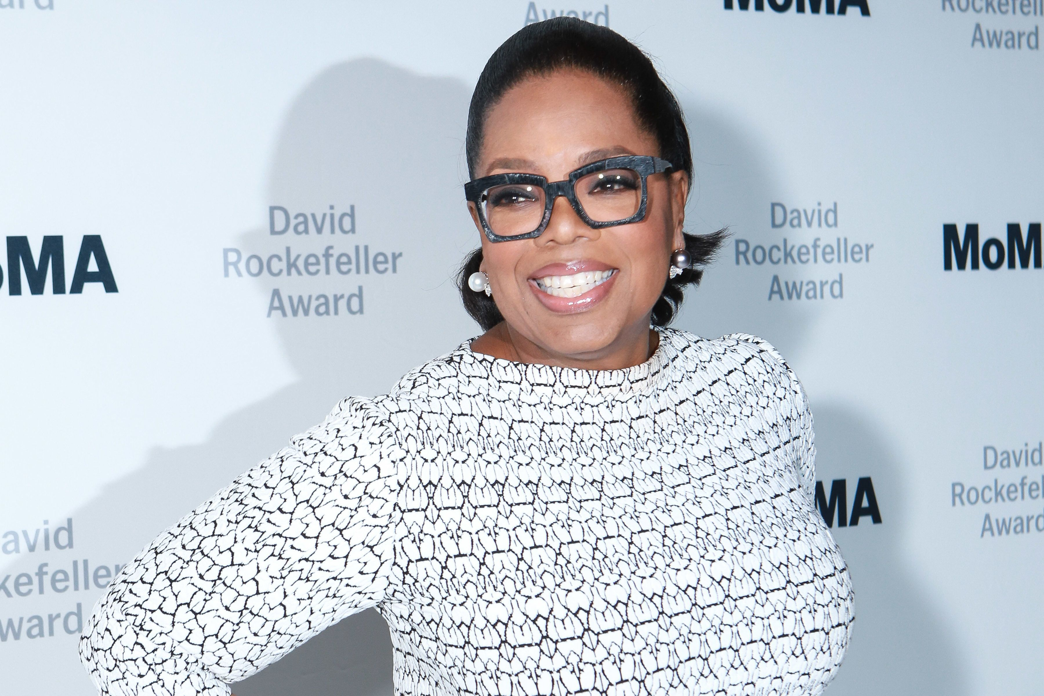 NEW YORK, NY - MARCH 06:  Oprah Winfrey during the 2018 MoMA David Rockefeller Award Luncheon Honoring Oprah Winfrey on March 6, 2018 in New York City.  (Photo by Gonzalo Marroquin/Patrick McMullan via Getty Images)