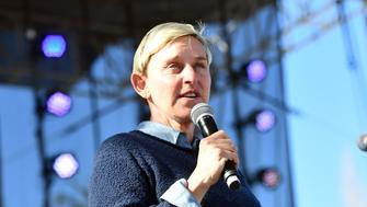 CARPINTERIA, CA - FEBRUARY 25:  TV personality Ellen DeGeneres performs onstage during the One 805 Kick Ash Bash benefiting First Responders at Bella Vista Ranch & Polo Club on February 25, 2018 in Carpinteria, California.  (Photo by Scott Dudelson/Getty Images)