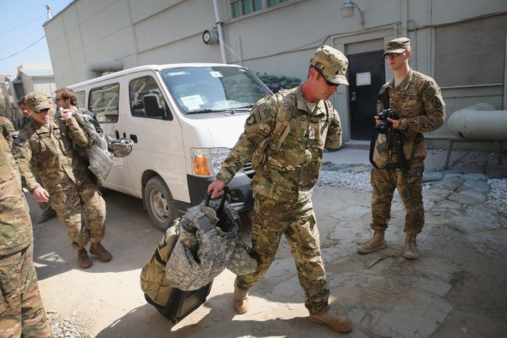 Retired Army Sgt. Noah Galloway of Birmingham, Alabama, arrives at Afghanistan's Bagram Airfield on March 12, 2014. Gall