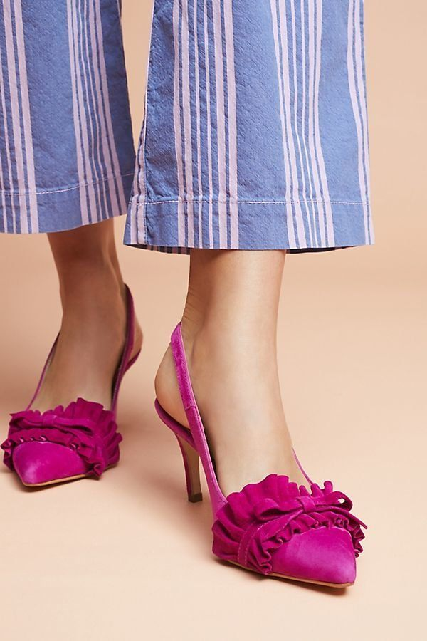"Get them at <a href=""https://www.anthropologie.com/shop/elia-b-jennifer-ruffle-heels?category=SEARCHRESULTS&color=051&amp"