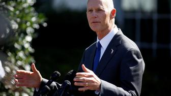 Florida Governor Rick Scott speaks about hurricane relief measures for Florida and Puerto Rico at the White House in Washington, U.S., September 29, 2017.   REUTERS/Joshua Roberts