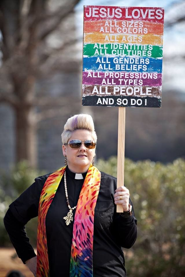 """Anna Golladay, who terms herself a<a href=""""https://rmnetwork.org/golladayfiredqueerwedding/"""" target=""""_blank""""> """"cradle United"""