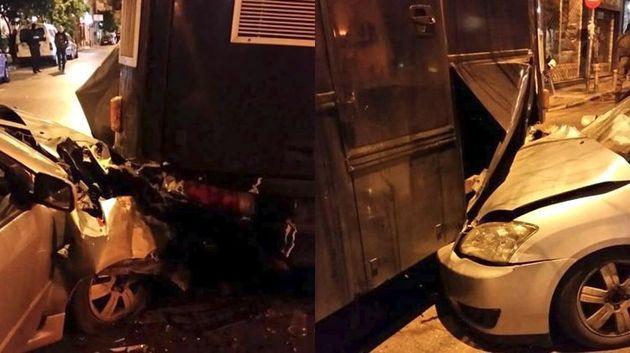 Μεθυσμένος οδηγός «κάρφωσε»Ι.Χ. σε κλούβα των