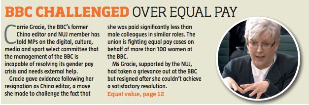 NUJ Admits Its General Secretary Was Being Paid Less Than Her