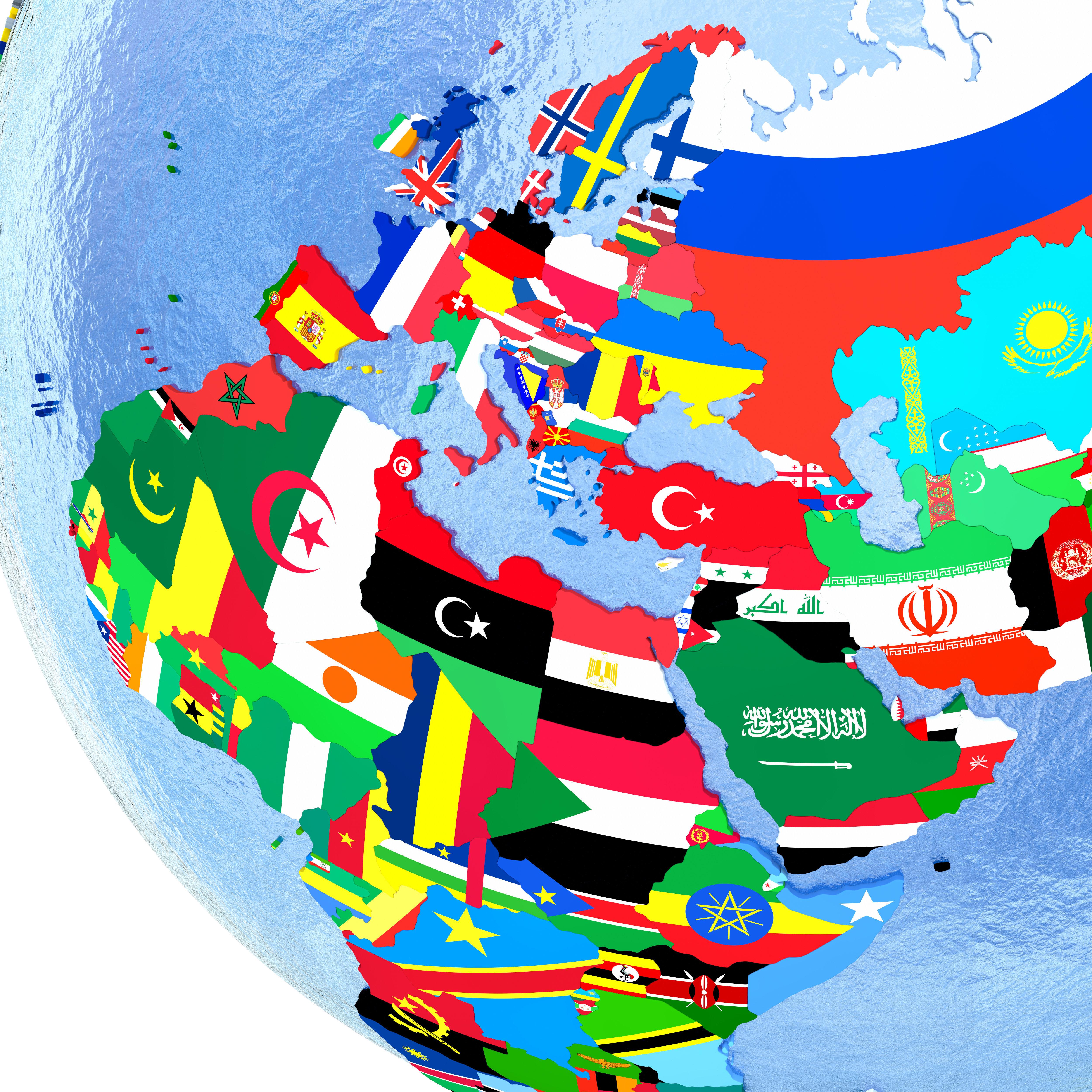 Όλες οι σημαίες που έχει αλλάξει κάθε χώρα στην ιστορία της σε έναν χάρτη και ένα