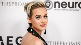 Singer Katy Perry poses at Elton John's 70th Birthday and 50-Year Songwriting Partnership with Bernie Taupin benefiting the Elton John AIDS Foundation and the UCLA Hammer Museum at RED Studios Hollywood in Los Angeles, California, U.S. March 25, 2017. REUTERS/Danny Moloshok