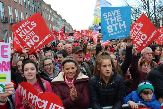 Anti-abortion advocates rally in Dublin on March