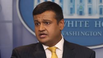 WASHINGTON, DC - FEBRUARY 22:  Principal Deputy Press Secretary Raj Shah speaks to the media during a press briefing at the White House on February 22, 2018 in Washington, DC.  (Photo by Mark Wilson/Getty Images)