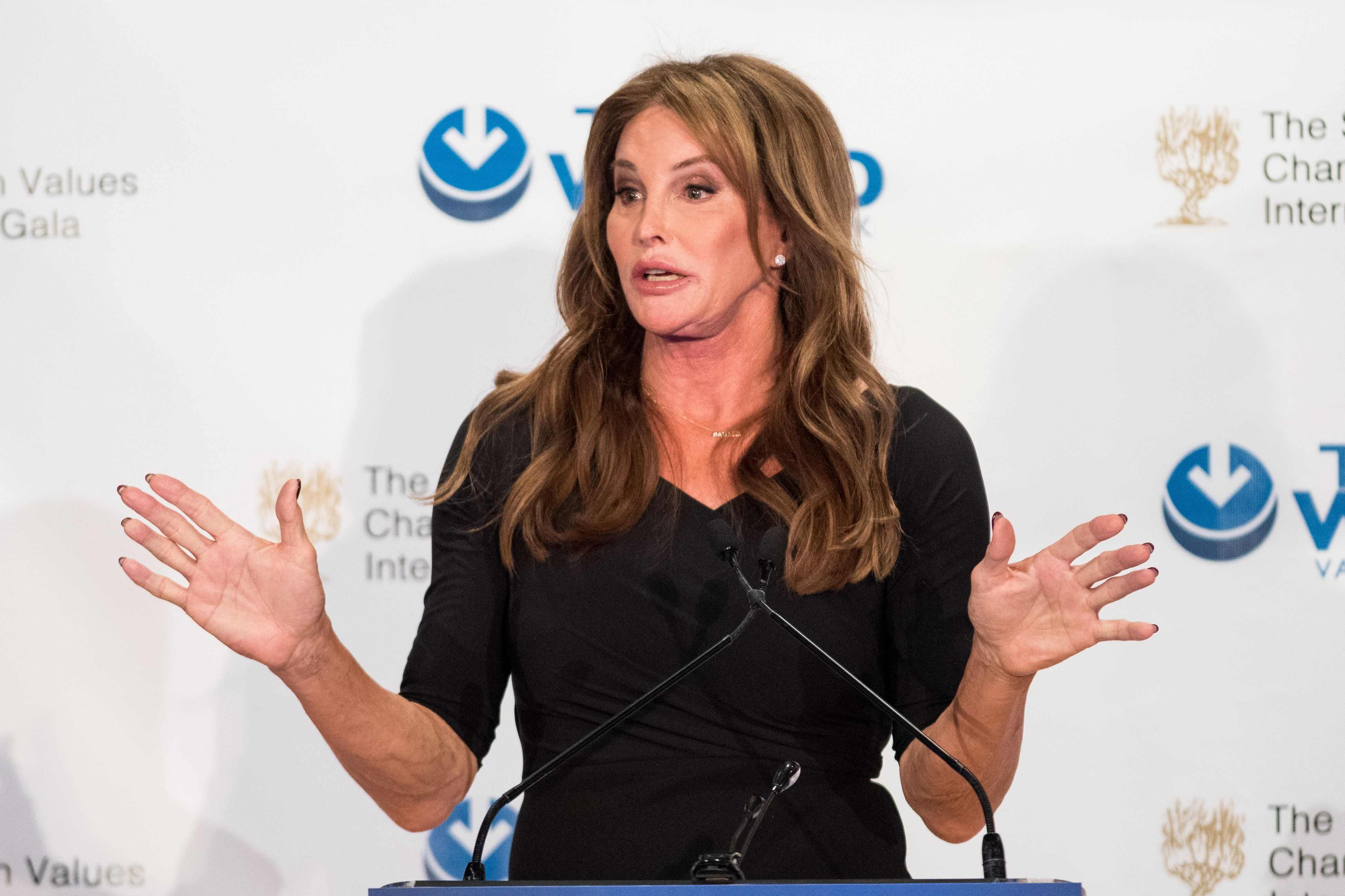 NEW YORK, NY, UNITED STATES - 2018/03/08: Caitlyn Jenner speaking at the Champions of Jewish Values International Awards Gala in New York City. (Photo by Michael Brochstein/SOPA Images/LightRocket via Getty Images)