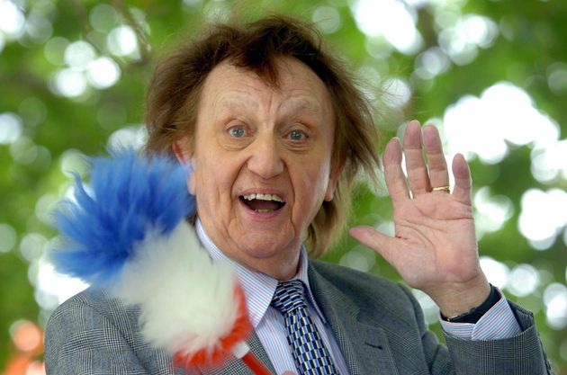 Sir Ken Dodd, with his tickling stick, had been in hospital with a chest