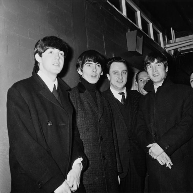 The Beatles with Ken Dodd in Manchester in