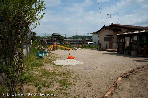 2011년 5월 후쿠시마현, 사고 이후 텅 비어버린 유치원