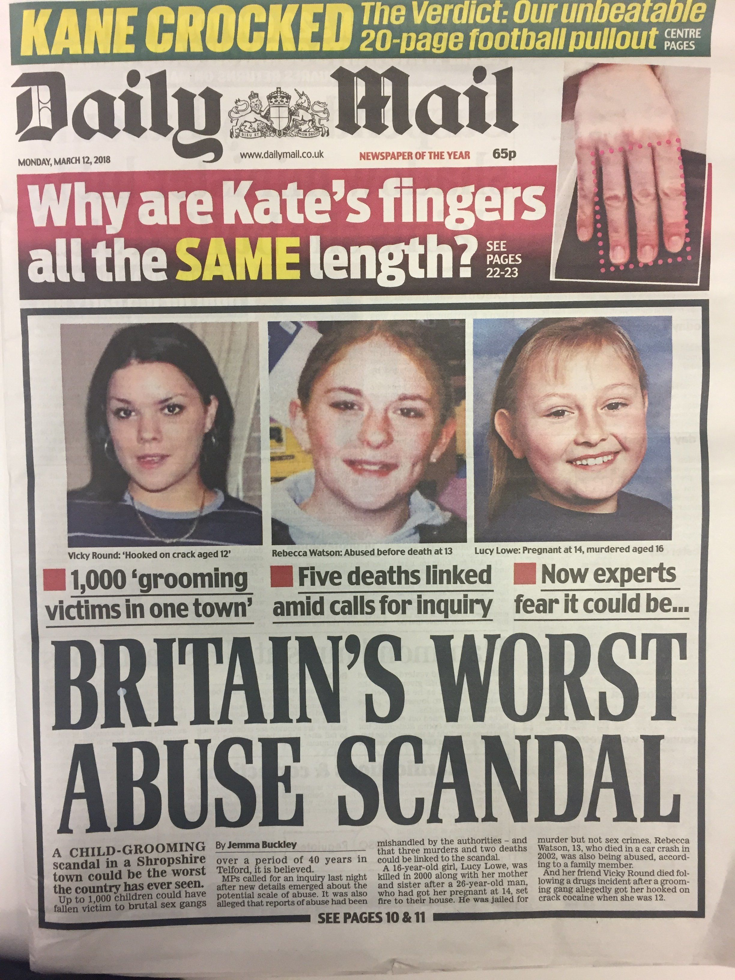 Daily Mail Makes Claim About Kate's Fingers – Then Proves It's Not True In One Glorious Front