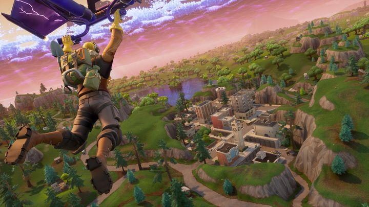 Players start Battle Royale by being parachuted down into the map.