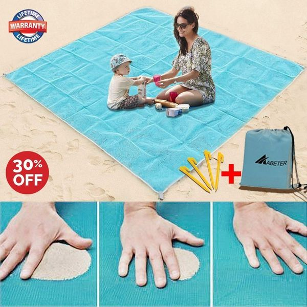 "Get it <a href=""https://www.amazon.com/Blanket-Sandless-Disappear-Waterproof-Everything/dp/B0754MKK17/ref=sr_1_3?amp=&ie=UTF8"