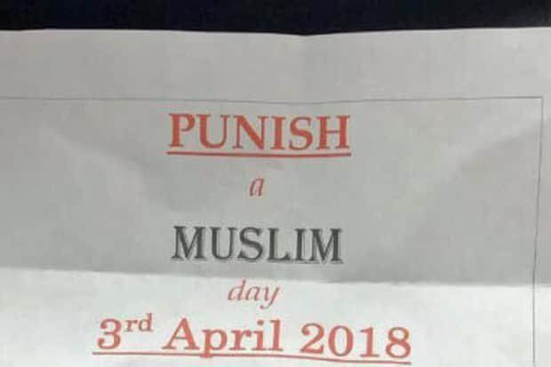 "The ""Punish a Muslim Day"" letters were sent across the U.K. this spring and urged people to commit acts of violen"