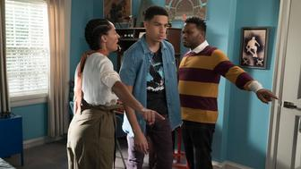 BLACK-ISH - 'R-E-S-P-E-C-T' - Dre and Bow confront gender biases of their own after finding out that both Junior and Zoey have become sexually active. Meanwhile, Ruby is hurt when she finds out that Jack and Diane have been hanging out with a friend's grandmother after school, on 'black-ish,' TUESDAY, MARCH 13 (9:00-9:30 p.m. EDT), on The ABC Television Network. (Eric McCandless/ABC via Getty Images) TRACEE ELLIS ROSS, MARCUS SCRIBNER, ANTHONY ANDERSON
