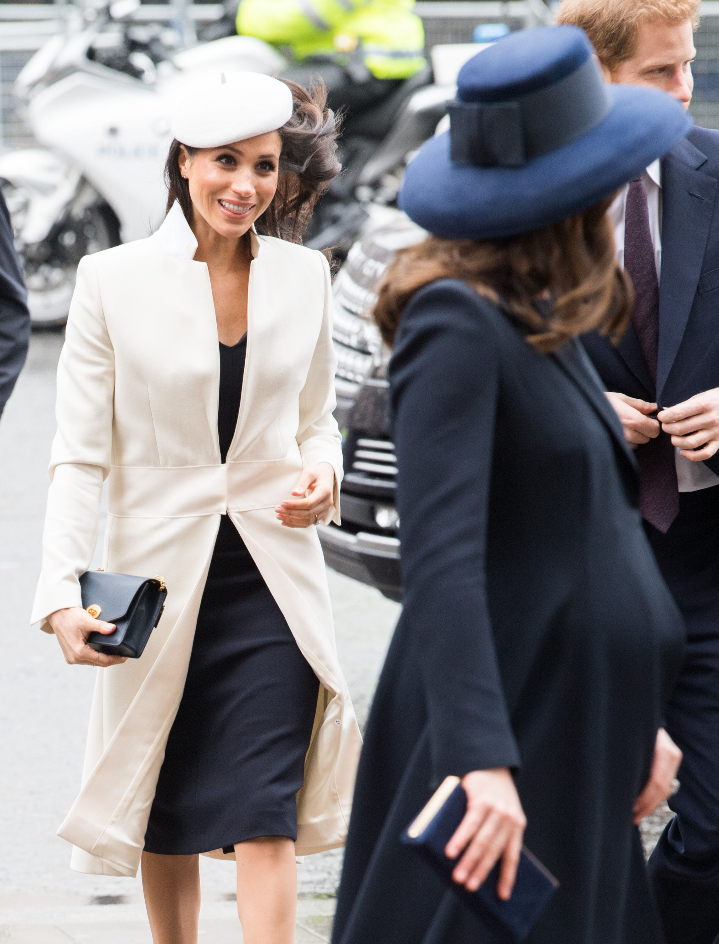 Meghan Markle And Duchess Of Cambridge Wear Statement Coats At Commonwealth Day