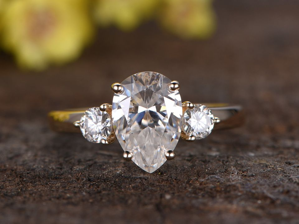 Moissanite Engagement Rings So Stunning, They'll Rock Your