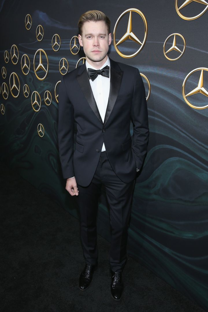 Chord Overstreet attends Mercedes-Benz USA Official Awards Viewing Party.