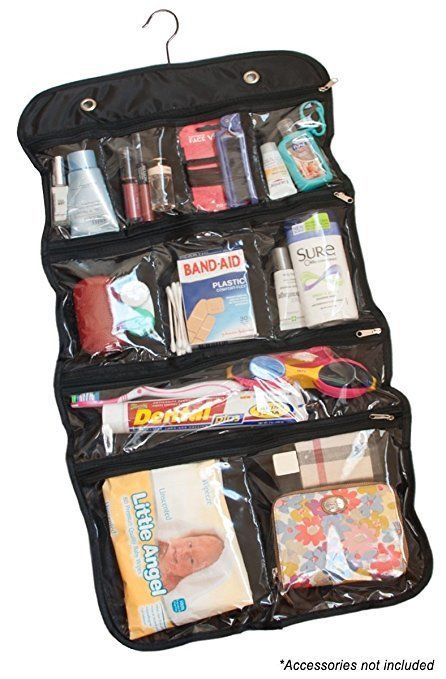 Hanging Cosmetic And Toiletry Travel Organizer --  13 7284111e893e0