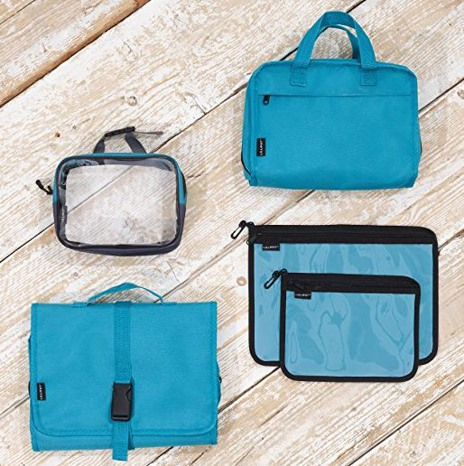 6f7108cf0c Multi-Piece Hanging Travel Toiletry Bag   Cosmetic Organizer --  20