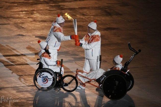 평창패럴림픽 개막식 성화봉송