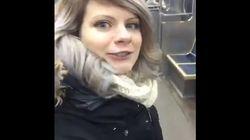 혼자 있는 줄 알고 지하철을 누비던 사람에게 벌어진