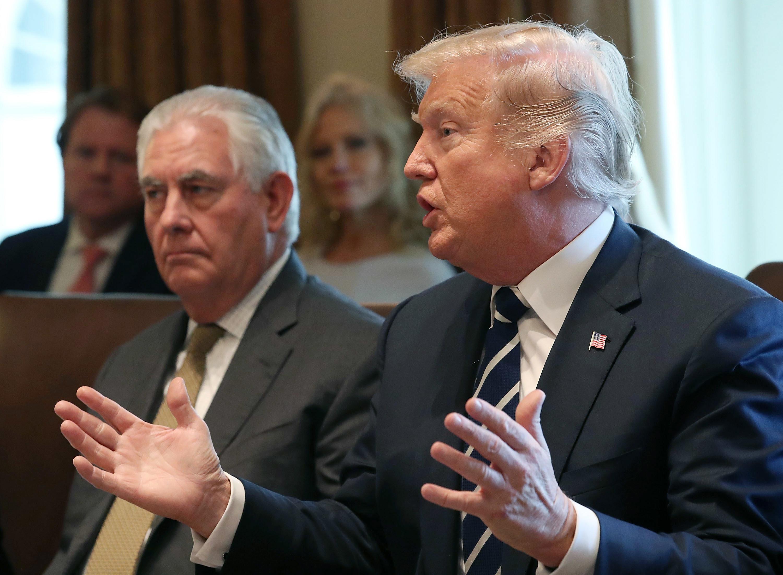 Trump kündigt auf Twitter Entlassung von Außenminister Tillerson an