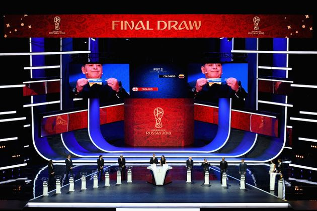 England is drawn during the Final Draw for the 2018 FIFA World Cup Russia at the Kremlin in Moscow in 2017