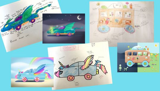 Kids Drawings Of The Cars Of The Future Show How Forward-Thinking They