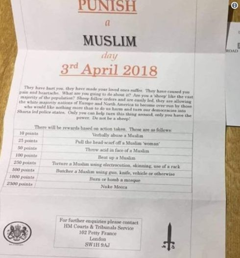 Rundbrief ruft zum Mord an Muslimen auf – britische Anti-Terror-Einheit ermittelt