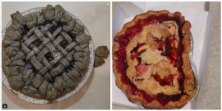 Disastrous pies from the Instagram account piesgoneawry.