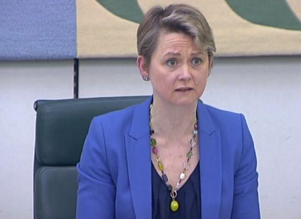 Committee chair Yvette Cooper.