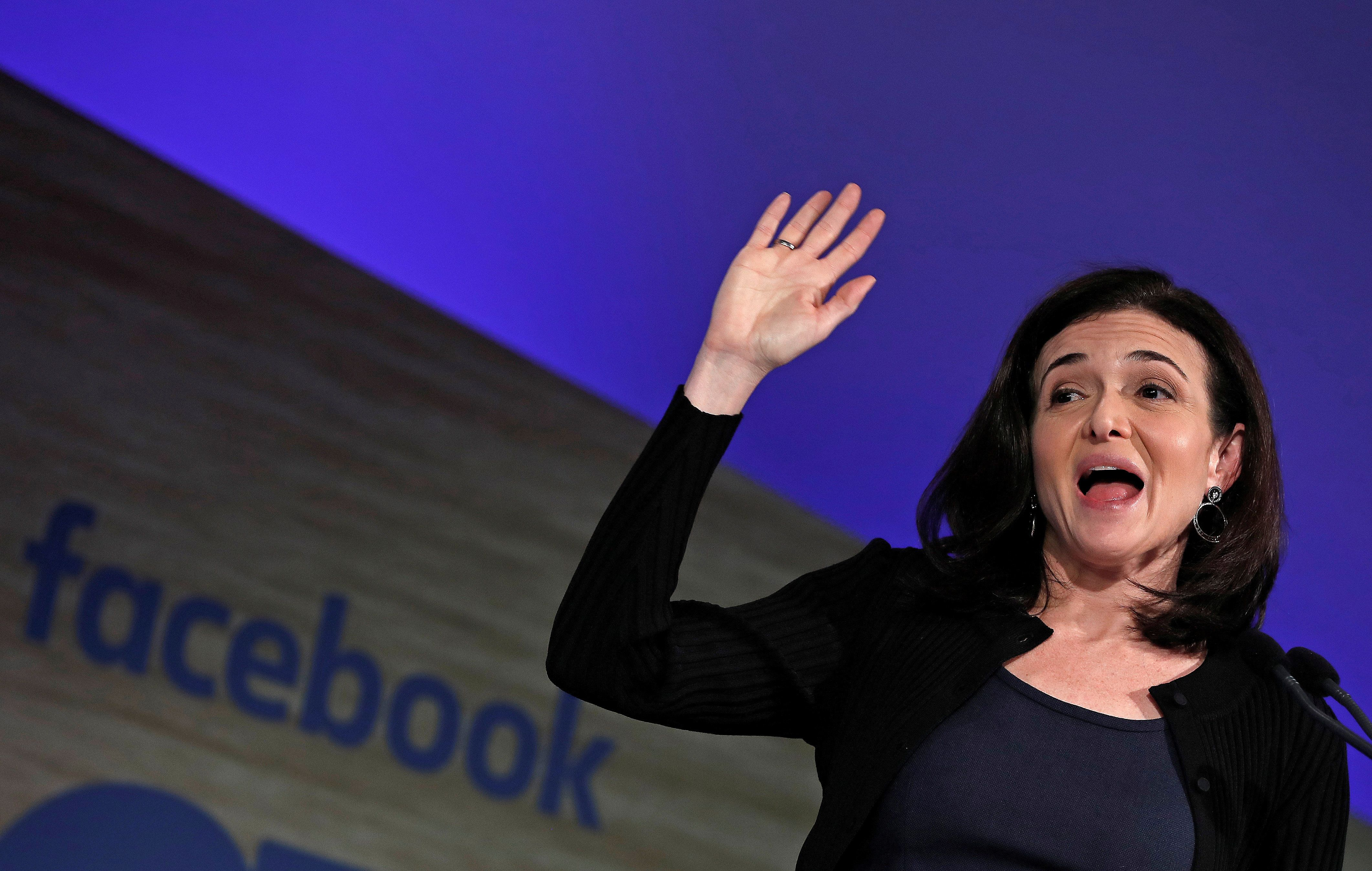 Facebook Chief Operating Officer Sheryl Sandberg in Brussels earlier this year.