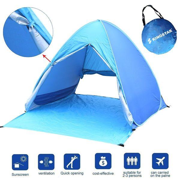 "Get the KIngstar portable beach tent <a href=""https://www.amazon.com/Kingstar-Waterproof-Automatic-Backpacking-Ultralight/dp/"